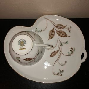 "Noritake VTG/Retired""Selby""5-Snack Plates /1-Cup"
